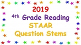 2019 4th Grade Reading STAAR Question Stems