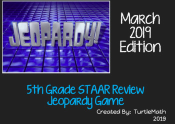 2019 - 5th Grade Jeopardy STAAR Review Game