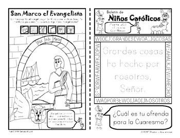 2019 Abril Boletín para Niños Católicos