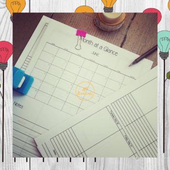 2019 All In One Daily, Weekly and Monthly Printable Planner