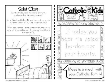 2019 August Catholic Kids Bulletin