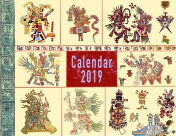2019 Aztec-Themed Calendar