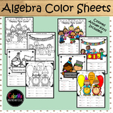 New Year's Activities 2019 | Basic Algebra Color by Number Worksheets