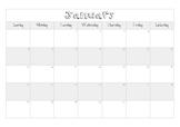 2019 Blank Calendar Template