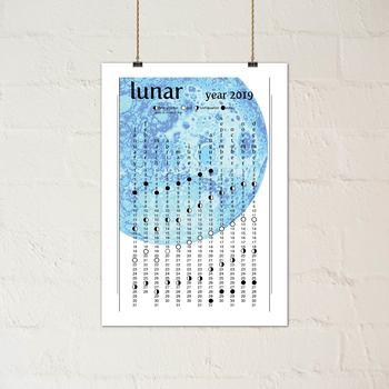 2019 Blue Moon Lunar Calendar - Printable PDF