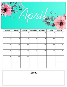 Monthly teacher planner 2019