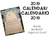 2019 Calendar/Calendario 2019