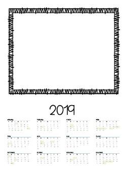 2019 Calendar END OF YEAR GIFT