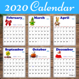 2019 Calendar (Editable) with Holidays