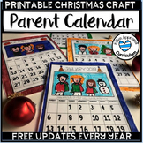 2019 Calendar Parent Gift Printable Christmas Craft Activity