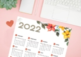 FREE 2019 Calendar - Instand dowload -Printable-Letter size
