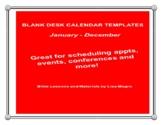 2019 Coloring Calendar with Bible Verses. Print & Go!