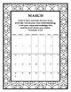 Calendar 2019 color with Bible Verses. Print & Go!