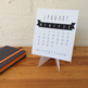 2019 Desk Calendar with stand - fits CD Jewel Case - B&W - Printable PDF