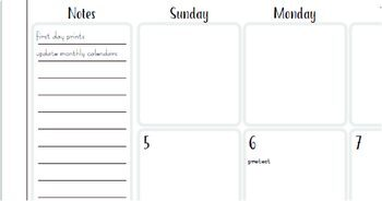2020 FILLABLE PDF 2 Page Monthly Calendars