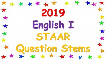 2019 English I STAAR Question Stems