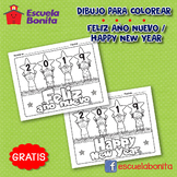 "2019 ""FELIZ AÑO NUEVO"" para colorear / 2019 ""HAPPY NEW YEAR"" coloring pages"