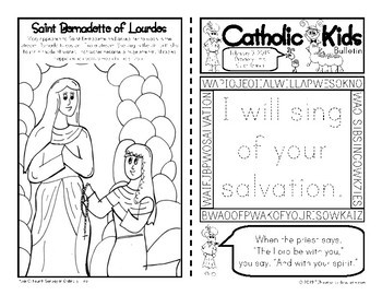 2019 February Catholic Kids Bulletins