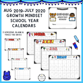 2019 and BLANK any year - Growth Mindset Calendar - lifetime updates!