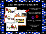 2021 and 2022 Handprint Calendar - Editable - Free Updates Yearly