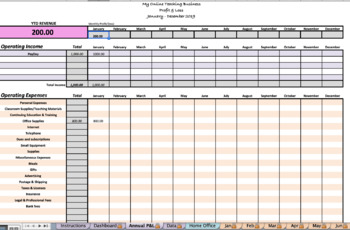 2019 Income and Expense Tracker for online ESL Teaching (VIPKID/GOGOKID)