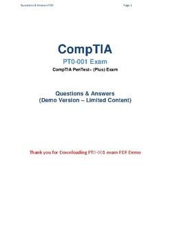2019 Latest CompTIA PT0-001 Actual Exam Questions
