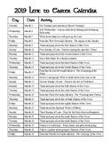 2019 Lent Calendar