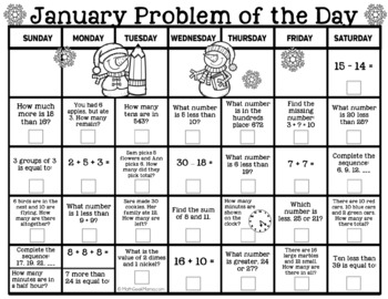 2019 Math Problem of the Day Calendar BUNDLE