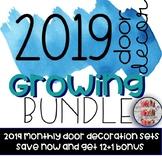 2019 Monthly Door Decoration Set EPIC GROWING BUNDLE Month