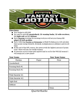 2019 NFL Fantasy Football