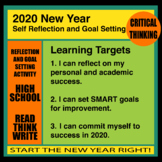 2019 New Year Self Reflection and Goal Setting / Resolution Activity