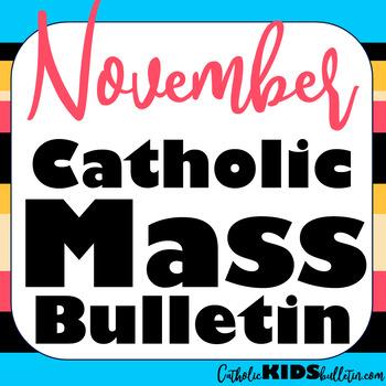 2019 November Catholic Kids Bulletins
