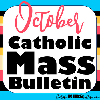 2019 October Catholic Kids Bulletins