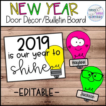 2019 Our Year to Shine - Door Decor/Bulletin Board