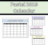 2019 Pastel Calendar