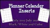 2019 Planner Calendar Inserts