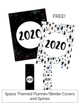 2019 Planner Covers and Spines for Binders FREE Space Themed