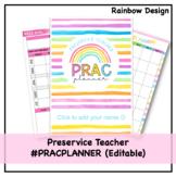 Preservice Teacher Prac Planner   Rainbow   Editable