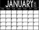 Free 2019 Printable Calendar {All Year Long} Color and Black and White