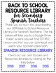 2019 Resource Library for Secondary Spanish Teachers