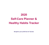 2020 Self-Care Planner and Healthy Habits Tracker