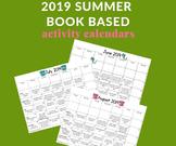 2019 Summer Activity Calendars (Book Based)