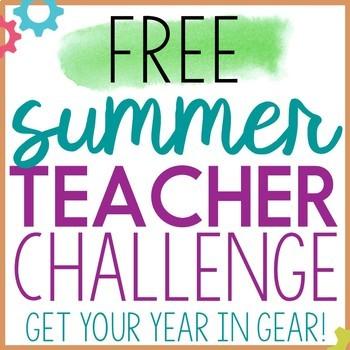 2019 Summer Teacher Challenge:  Getting Your Year in Gear