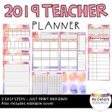 2019 Teacher Planner (Bubbles)
