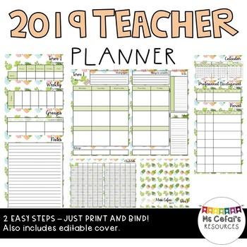 2019 Teacher Planner (Cacti)