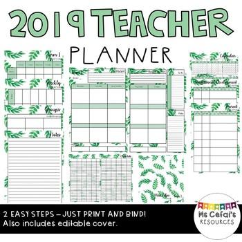 2019 Teacher Planner (Jade)