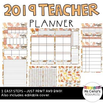 2019 Teacher Planner (Kitty)