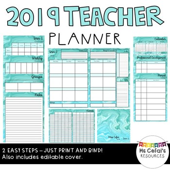 2019 Teacher Planner (Tiffany)