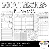 2019 Teacher Planner (Monochrome)