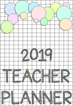 2019 Teacher Planner RAINBOW